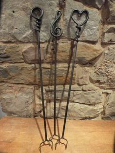 Hand Forged Toasting Fork - Blacksmith made