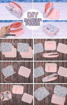 Small Sewing Projects, Sewing Projects For Beginners, Sewing Tutorials, Diy Bags Patterns, Sewing Patterns, Fabric Crafts, Sewing Crafts, Diy Bag Designs, Diy Bags Purses