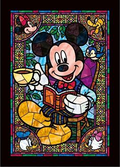 Mickey stained glass