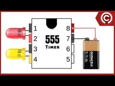 LED Chaser Circuit with 555 timer 555 Timer LED-Kühlerschaltung Simple Electronics, Hobby Electronics, Electronics Components, Electronics Projects, Led Projects, Electrical Projects, Circuit Projects, Simple Circuit, Electronic Schematics
