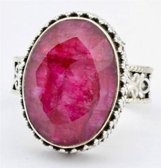 Royal Ruby Gemstone Ring Solid 925 Sterling Silver Jewelry Size 8.5 IR24017
