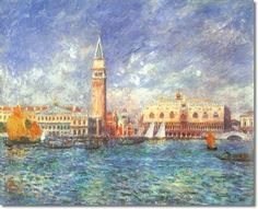 french impressionist paintings   ... Renoir French Impressionist Painting - Doges Palace Venice Painting
