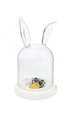 rabbit ears glass display