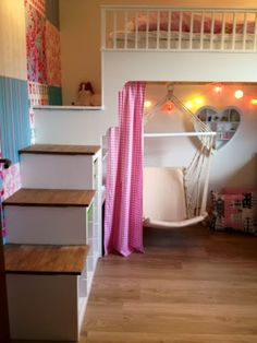 "Explore our site for even more details on ""bunk beds for kids boys"". It is actually a great spot to learn more. Bedroom Loft, Dream Bedroom, Home Bedroom, Kids Bedroom, Bedroom Decor, Loft Bed Plans, Loft Bunk Beds, Girl Bedroom Designs, Big Girl Rooms"