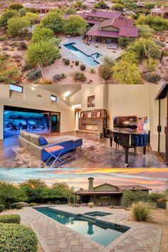 Custom Home Builders, Custom Homes, Copper Glass, Flagstone, Window Wall, Ranch Style, Car Garage, Anchors, Ceilings
