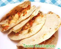 Tacos mexicanos de pollo - fácil