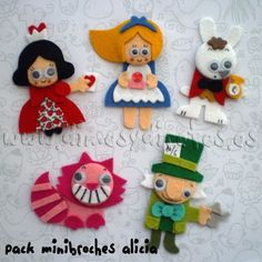 Alice in Wonderland felt characters