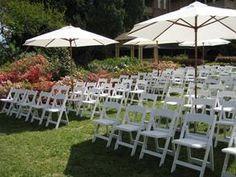 Gladiator chairs for an outdoor summer wedding
