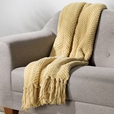 Three Posts Nader Tweed Knitted Throw Blanket Color: Jojoba Yellow, Size: x Tweed, Throw Pillow Covers, Throw Pillows, Throw Blankets, Woven Blankets, Plush Blankets, Lumbar Pillow, Duvet Covers, Upholstered Bench
