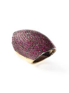 Blake Scott  Pave Ruby Shield Ring