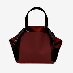 Convertible Leather/Canvas Travel Tote