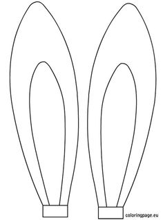 #Easter rabbit ears template | Coloring Page