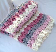 Baby Blanket Crochet Pattern...Stepping Stones by Stolenhook