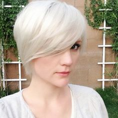 Light Blonde Pixie Haircut for Girls