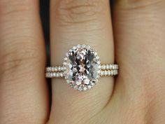 Jessica Original Size 14kt Rose Gold Oval Morganite by RosadosBox