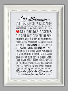 """Originaldruck - """"KÜCHEN HAUSORDNUNG"""" Kunstdruck - ein Designerstück von Smart-Art-Kunstdrucke bei DaWanda"""