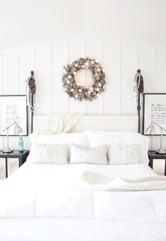 white master bedroom