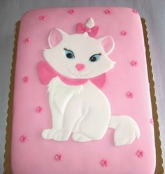 Marie from Aristocats, maybe a simpler cake such as this for her first birthday.