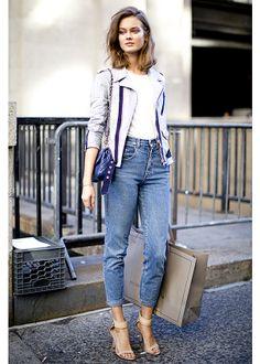 50 street styles, 50 idées mode, Essayez le mom jean et rrrrrrroulez les bords!