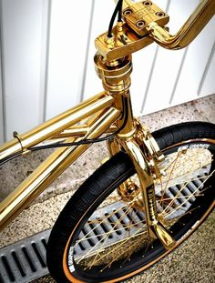 Pimped golden bike