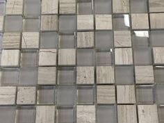 "Discount Glass Tile Store - Marble and Glass Mosaic - 1"" x 1"" Wooden White and Glass Mosaic $7.95 sq.ft, $7.95 (http://www.discountglasstilestore.com/marble-and-glass-mosaic-1-x-1-wooden-white-and-glass-mosaic-7-95-sq-ft/)"