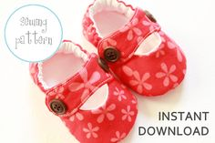 Baby Shoe Pattern  Modern MaryJanes  INSTANT DOWNLOAD by petitboo, $4.50