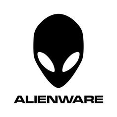 A computer based company logo. Really straight forward Professional block type for the name and the symbol being that of an alien. Logos, Logo Branding, Aliens, Surf, Alienware, Logo Google, Alien Logo, Stencils, Logo Design