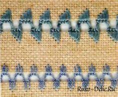 Петельный шов (обметочный соединительный шов) и его варианты для вышивания в картинках