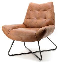 Kleur + model stoel (Hoop dat ie ook lekker zit:)) Leather Recliner Chair, Swivel Armchair, Upholstered Chairs, Bar A Vin, Home Office Design, Sofa Furniture, Club Chairs, Vintage Leather, Handmade Leather