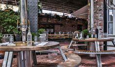 new york city's best outdoor bars + restaurants: the standard biergarten