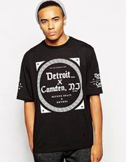 New Look T-Shirt With Detroit Camden Print