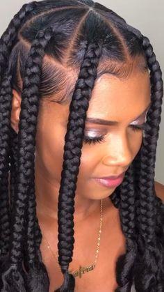 Braided Cornrow Hairstyles, Box Braids Hairstyles For Black Women, Braids Hairstyles Pictures, Dope Hairstyles, Braids For Short Hair, African Braids Hairstyles, Protective Hairstyles, Cornrows Box Braids, Cornrows Short Hair