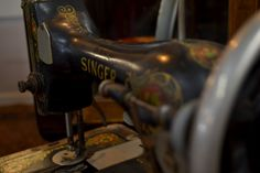 Antique Singer sewing machine. Available at Vintage in Cumming, GA. Visit our Pinterest page for the latest from Vintage!