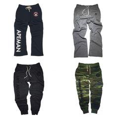 Apeman strong sweatpants with elastic Fleece Pants, Fitness Clothing, Random Things, Parachute Pants, Strong, Sweatpants, Gifts, Men, Clothes