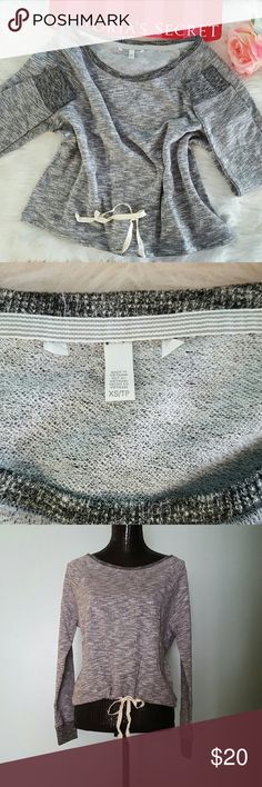 SALE! New!Victoria's secret pullover It is short! Boat neck  New without tags! The tags have been removed in VS warehouse.  No trades! No modeling! No holds, sorry!  This is my ABSOLUTE LOWEST price. I don't accept offers or negotiations! Hope you understand, thank you! Victoria's Secret Tops Blouses
