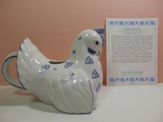 Franklin Mint Country Friends 1986 Chicken Creamer by 2lewa, $15.99