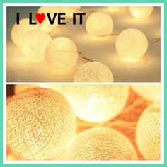 20 Cotton Balls Lights Warm White Holiday LED String Fairy Xmas LIGHTS Luces De Navidad Wedding Party Romantic Decoration Lamps