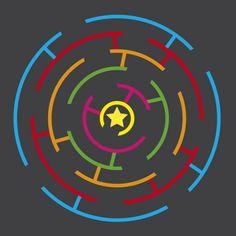 WildZebra Playground Markings Mazes - Circular Maze