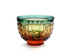 薩摩切子の盃 sakazuki of  Satsuma Kiriko (traditional glass tableware from Kagoshima, Japan)