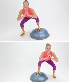Wondering what to do with that BOSU ball? Here are a few good ideas.
