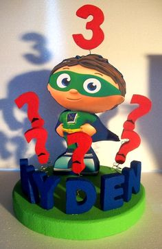 Super Why Cake Topper Super Why Cake, Super Why Party, Super Why Birthday, 3rd Birthday Parties, Boy Birthday, Birthday Ideas, Alphabet Birthday, Personalized Cake Toppers, Kids Corner