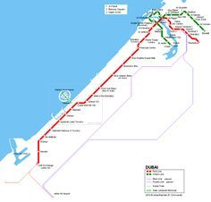 Dubai Metro Map ©  UrbanRail.Net