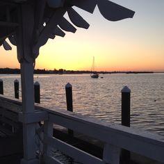 Sunrise off Bradenton Beach pier, Florida