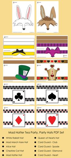 Mad Hatter Tea Party Ideas Mad Hatter Tea Party Hats Alice in Wonderland