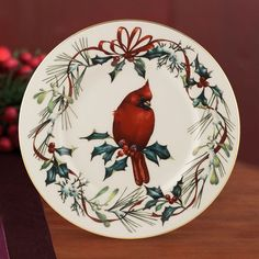 32 best lenox winter greetings images on pinterest christmas china winter greetings cardinal accent plate by lenox m4hsunfo