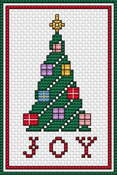 Thrilling Designing Your Own Cross Stitch Embroidery Patterns Ideas. Exhilarating Designing Your Own Cross Stitch Embroidery Patterns Ideas. Cross Stitch Christmas Cards, Xmas Cross Stitch, Christmas Tree Cards, Cross Stitch Cards, Cross Stitching, Cross Stitch Embroidery, Cross Stitch Patterns Free Christmas, Free Cross Stitch Charts, Xmas Tree
