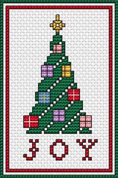 Navidad. Árbol. Punto cruz
