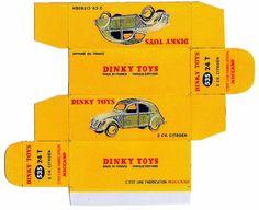 DINKY TOYS 24T 535 : CITROEN 2CV boite repro / reprobox COPIE AVEC AUTORISATION | eBay