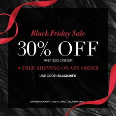 Enjoy 30% off a $30 order & FREE shipping on Avon.com, with code: BLACK30FS  #AvonRep www.MoreThanJustBeauty.com