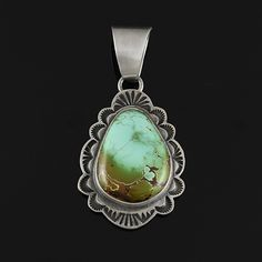 Royston Turquoise Pendant by Tommy Jackson | Native American Jewelry | Navajo (Dine) | wrightsgallery.com